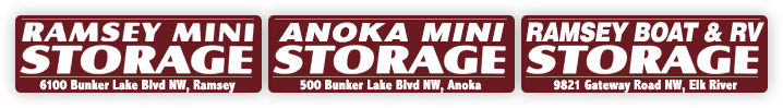 Ramsey Mini Storage, Anoka Mini Storage, Ramsey Boat & RV Storage